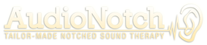 AudioNotch.com: Tailor-Made Notched Sound Therapy for Tinnitus, site logo